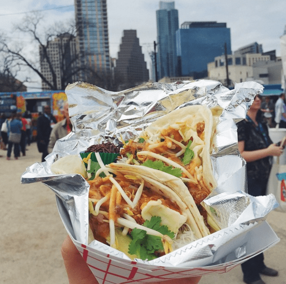 SXSW food in the air