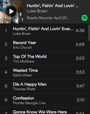 Roadie Records Country Music Road Trip Playlist