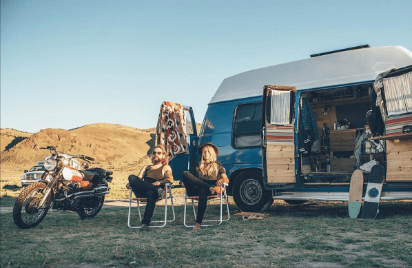 """Hangin' out in Oregon's outback with now 133 days of travel in our bones."" (Photo: @a.m.e.r.i.k.a)"