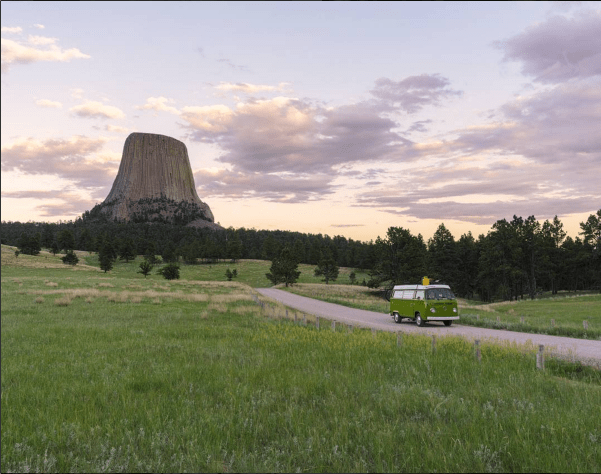 """After a day full of exploration, I returned to the North side of Devil's Tower to prepare for that night."" (Photo: @simplistic_freedom)"