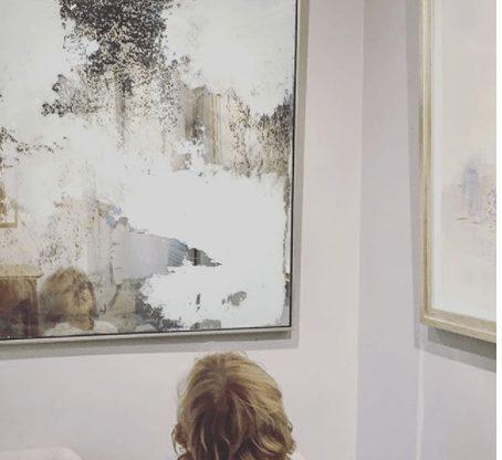 Stacy milburn artwork hung in gallery