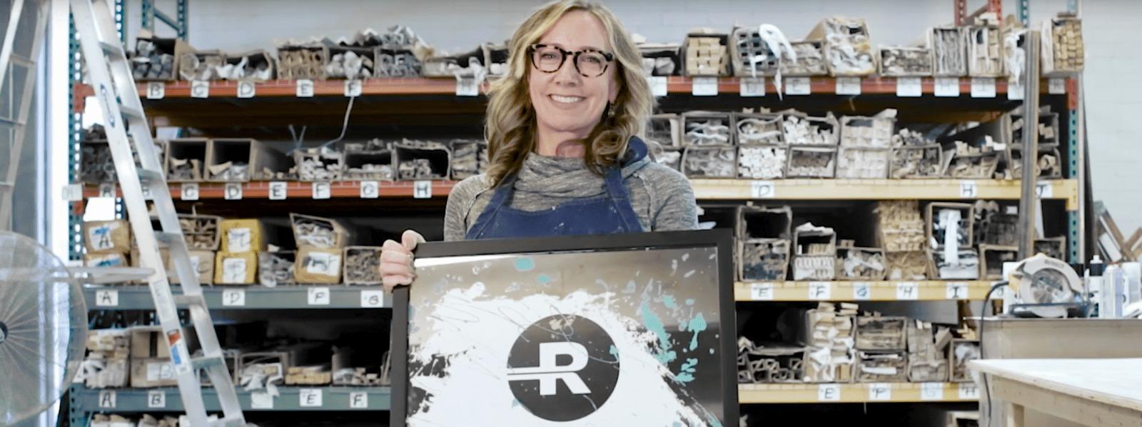 Stacy Milburn ships art with Roadie