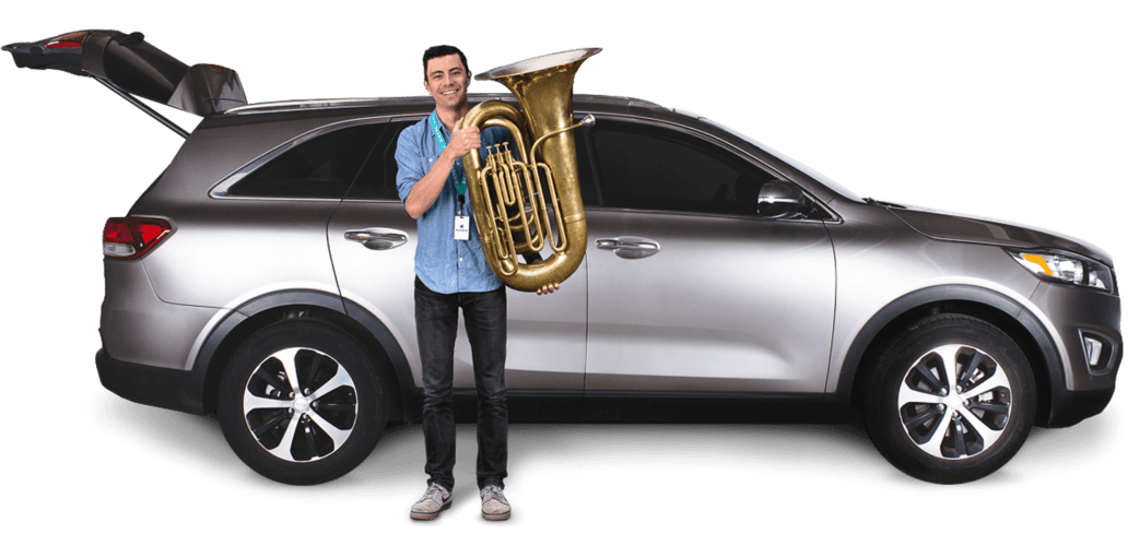 Roadie drivers provide same day shipping for your tuba
