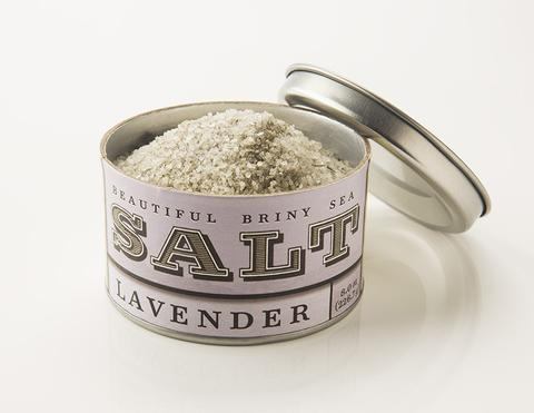 beautiful briny sea lavendar salt